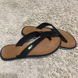 Ralph Lauren Black Flip Flops